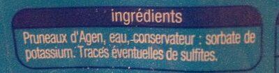 Prunes moelleuses dénoyautées - Ingrédients - fr