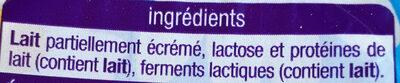 Yaourt Nature - Ingrediënten