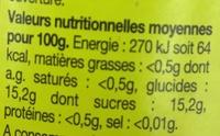 Compote de pommes allégée en sucres - Nutrition facts