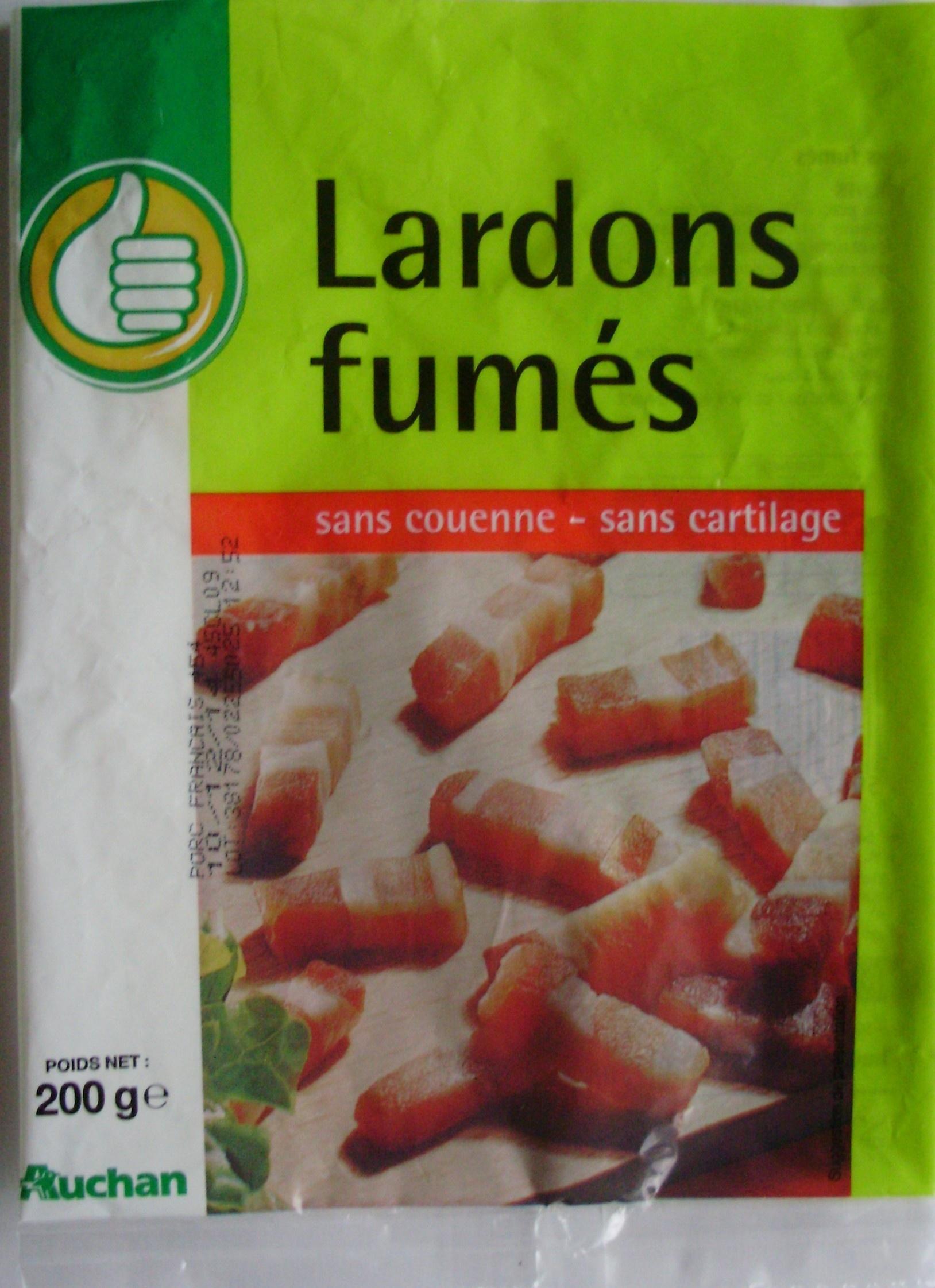 Lardons fumés (sans couenne, sans cartilage) - Product - fr