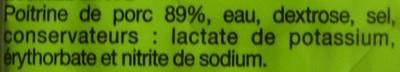Lardons fumés (sans couenne, sans cartilage) - Ingrediënten - fr