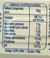 Filets de maquereaux sauce escabèche - Informazioni nutrizionali - fr