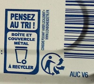 Filets de maquereaux sauce escabèche - Istruzioni per il riciclaggio e/o informazioni sull'imballaggio - fr