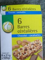 6 Barres Céréalières Chocolat-Cacahuètes - Product - fr