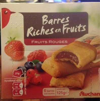 Barres fruits rouges x6 - Product