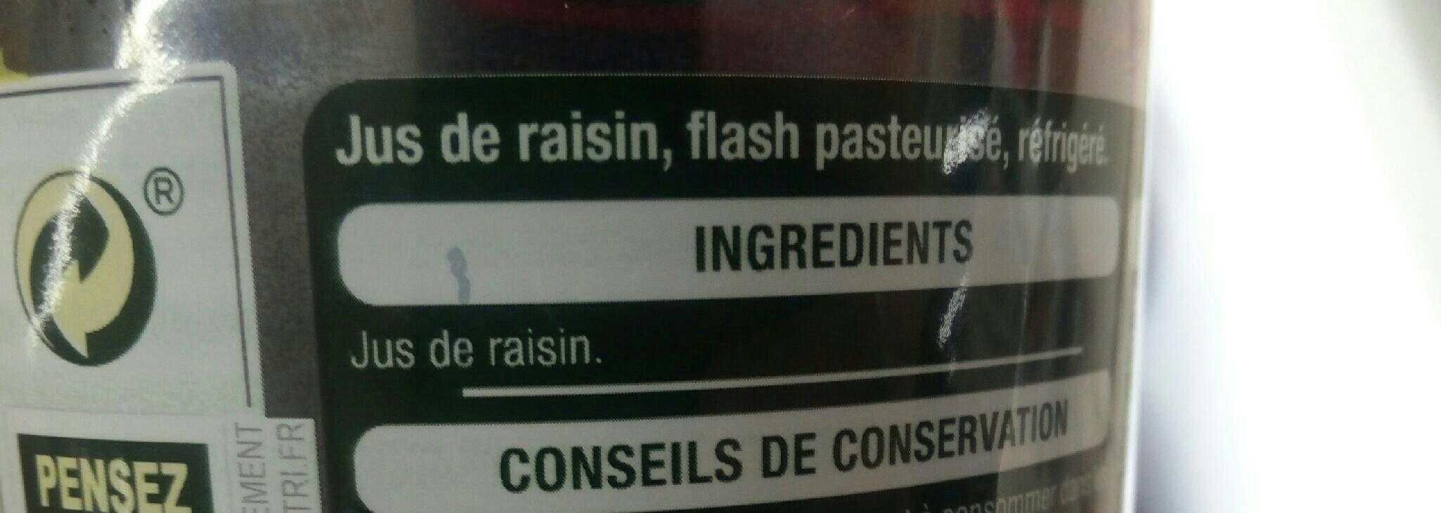 100% Jus raisin - Ingredienti - fr