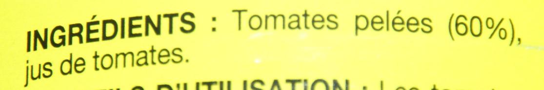 Tomates pelées entières - Ingredients