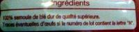 Pâtes petits paniers de qualité supérieure - Ingredients - fr