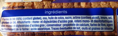 Toast - Ingrediënten - fr