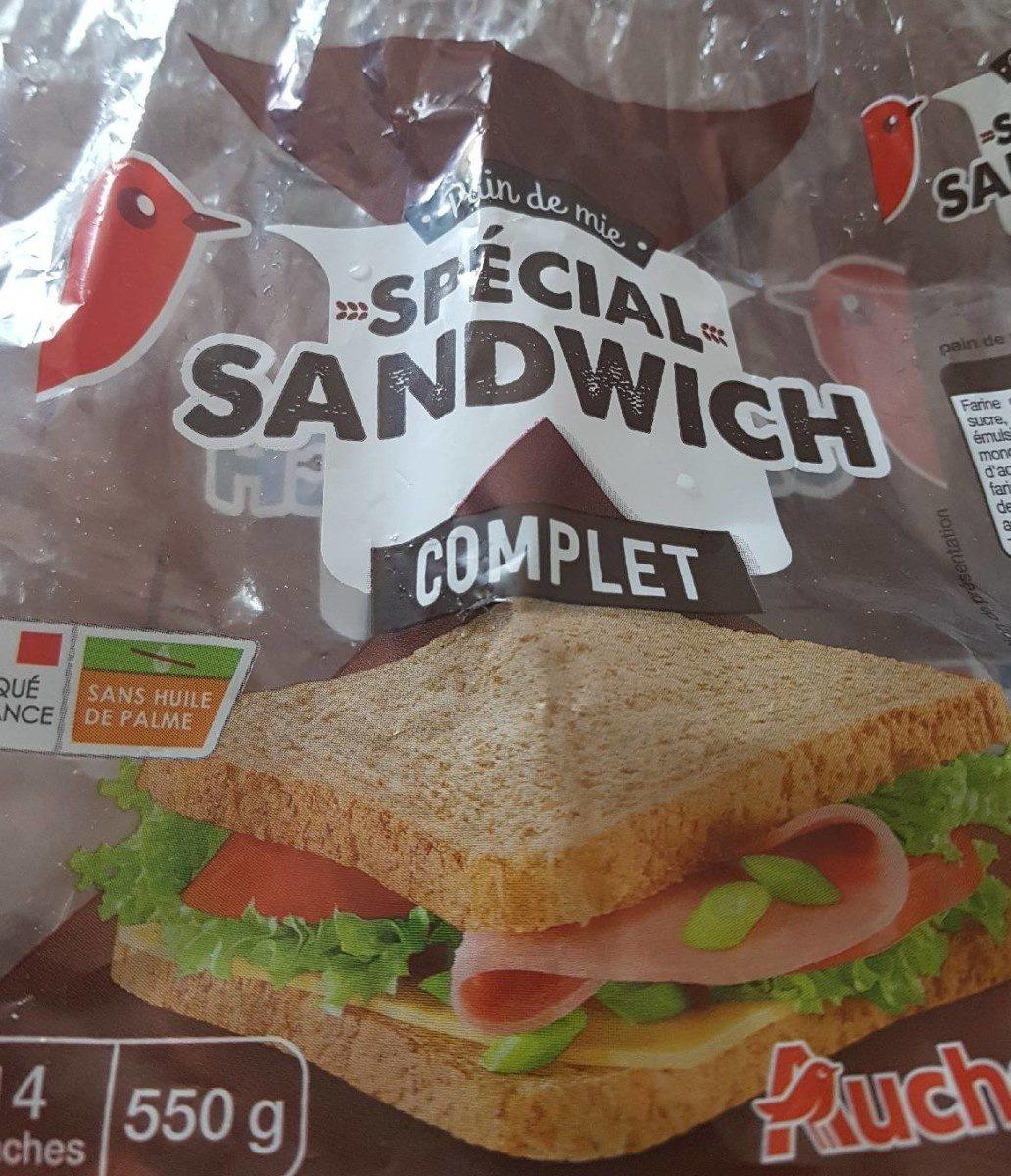 pain de mie complet sp cial sandwich auchan 550 g. Black Bedroom Furniture Sets. Home Design Ideas