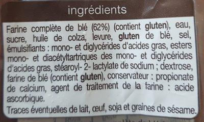 Pain de mie complet spécial sandwich - Ingredients - fr