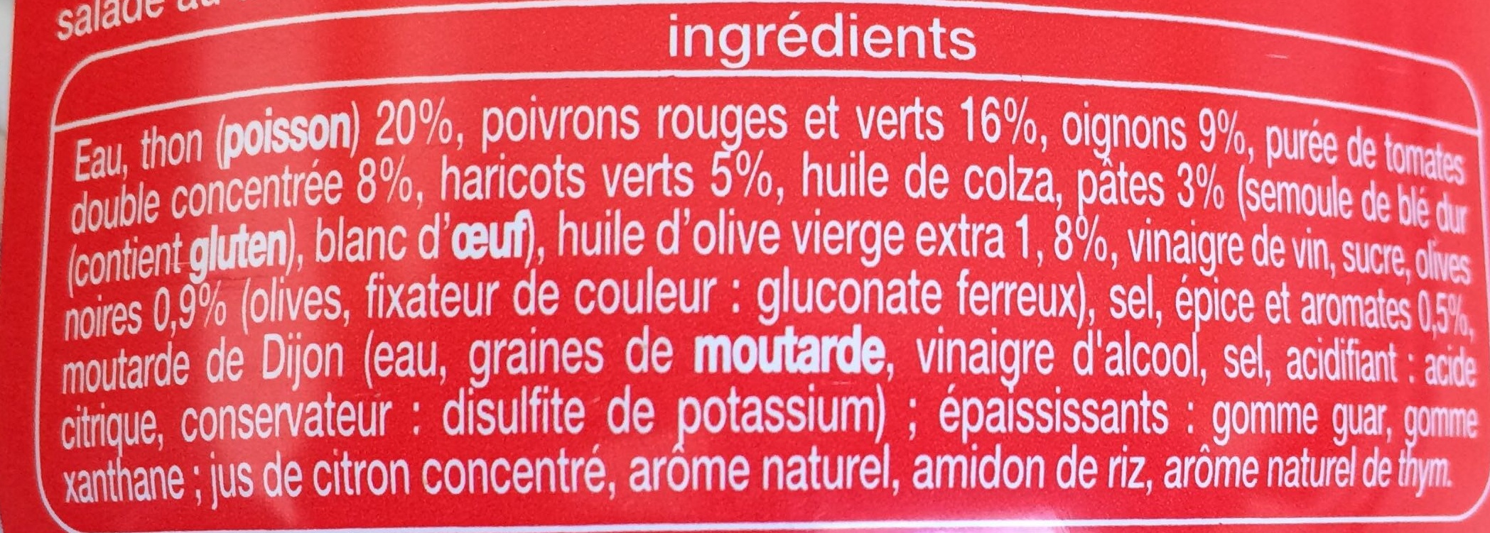 Salade catalane au thon - Ingredients