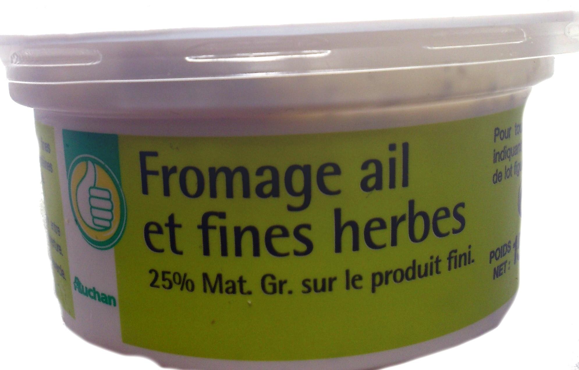 Fromage ail et fines herbes (25 % MG) - Produit - fr