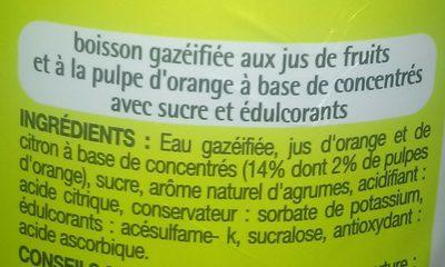 Pulpée Orange - Ingrédients - fr
