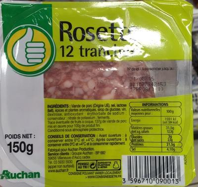 Rosette 12 tranches - Produit