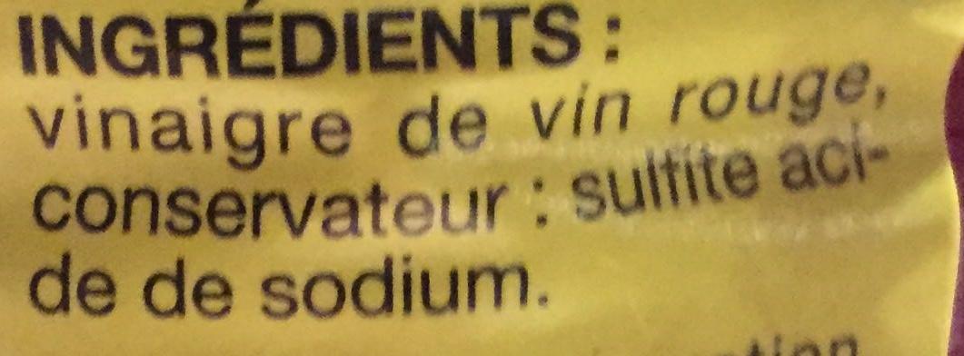 Vinaigre de vin rouge pouce 1 l for Bisulfite de sodium piscine