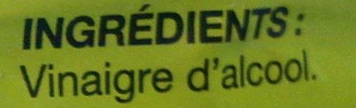 Vinaigre d'Alcool (8% d'acidité) 1 litre - Ingrédients - fr