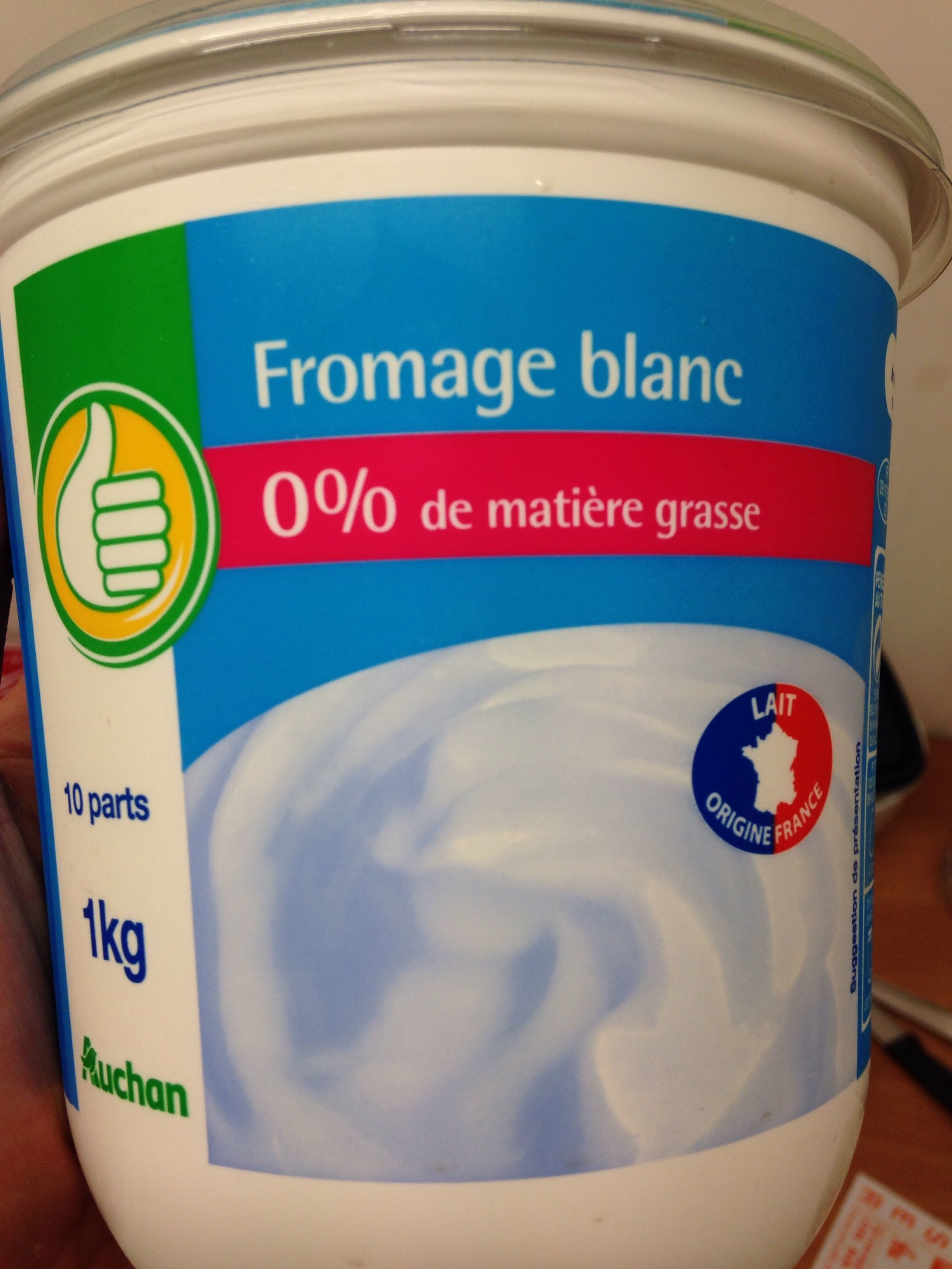 Fromage Blanc 0 Auchan 1 Kg