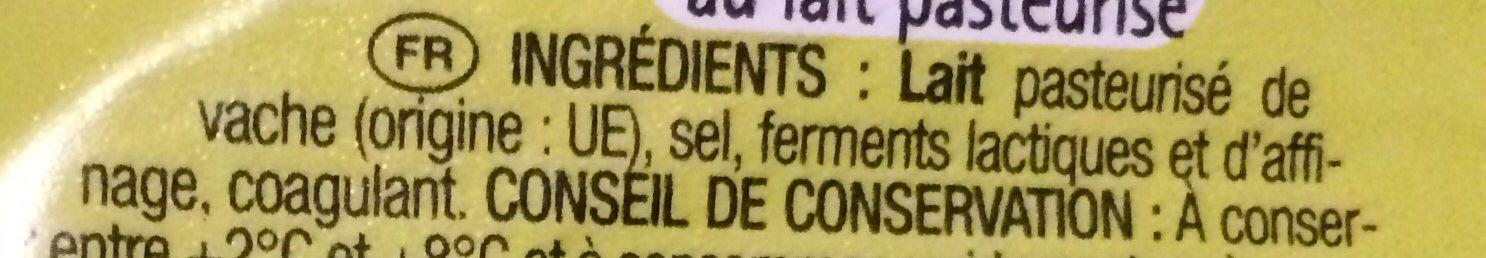 Pointe de Brie - 成分 - fr