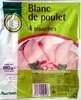 Blanc de poulet (4 tranches) - Produit