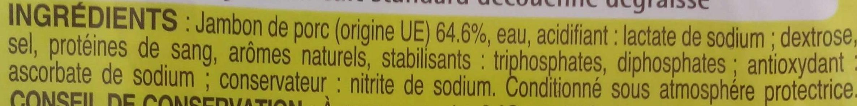 Dés de jambon cuit (découenné - dégraissé) - Ingrédients - fr