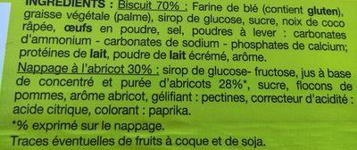 12 tartelettes à l'abricot - Ingrediënten - fr