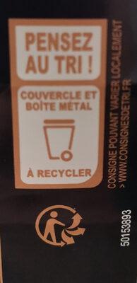 Confit De Canard du sud-ouest 4 cuisses - Istruzioni per il riciclaggio e/o informazioni sull'imballaggio - fr