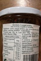 Marmelade d'orange - Ingrediënten - fr