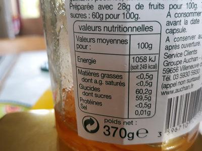 Marmelade d'orange - Voedingswaarden - fr