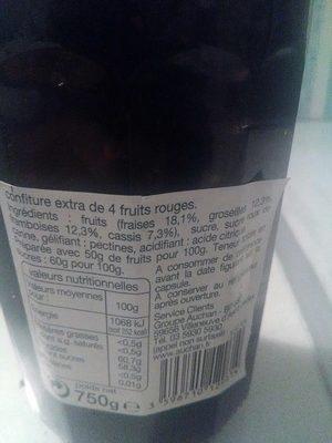 Auchan Confiture 3 Fruits Rouges - Produit