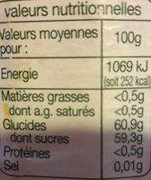 confiture extra de fraise - Voedigswaarden