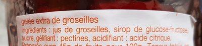 Gelée extra de groseilles - Ingrédients - fr