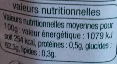 Confiture extra de cerise griotte - Informations nutritionnelles - fr