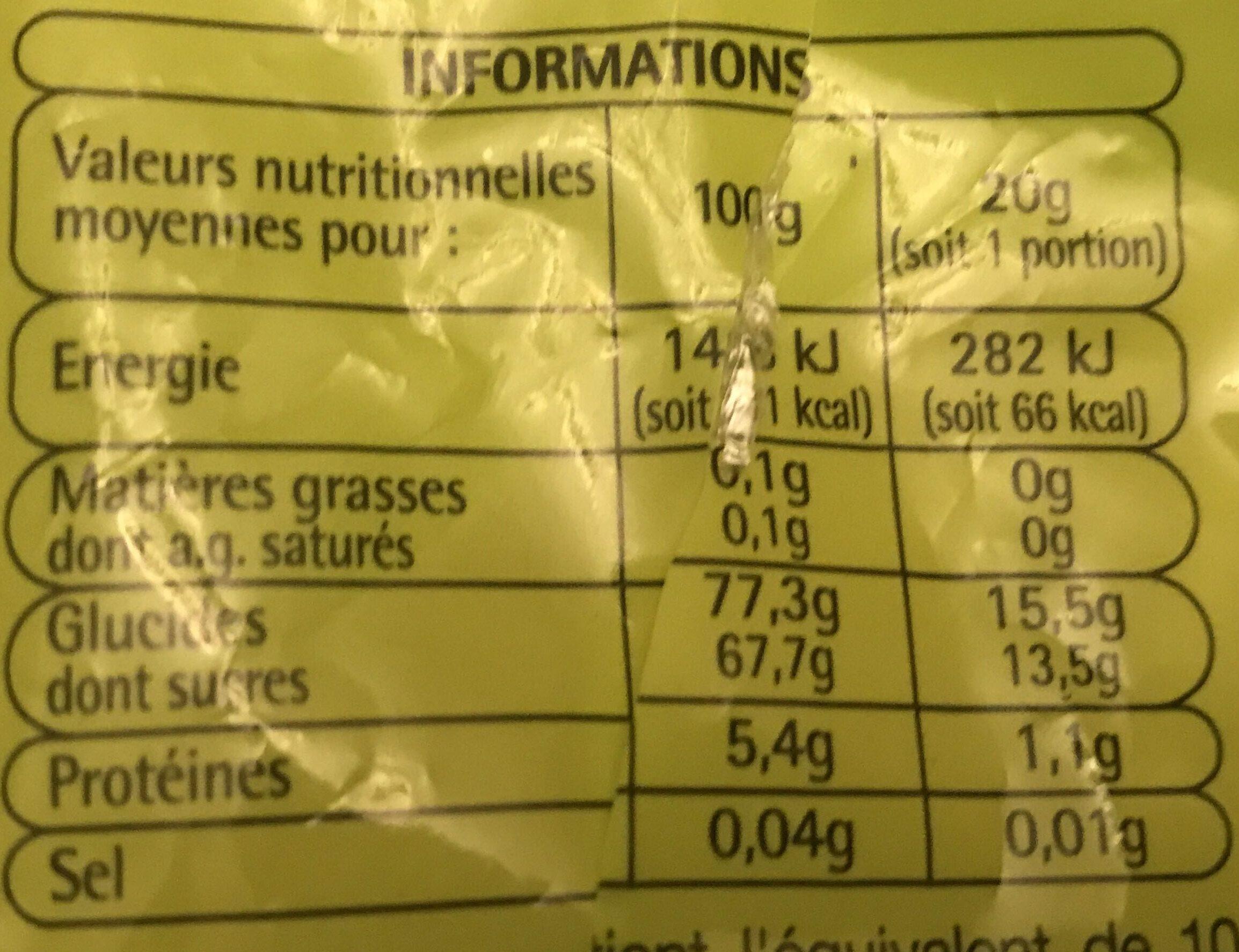 Bouteilles goût cola 200g - Nutrition facts - fr