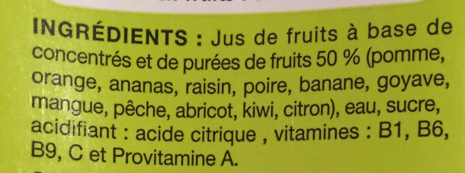 Nectar multivitaminé de 12 fruits - Ingrediënten