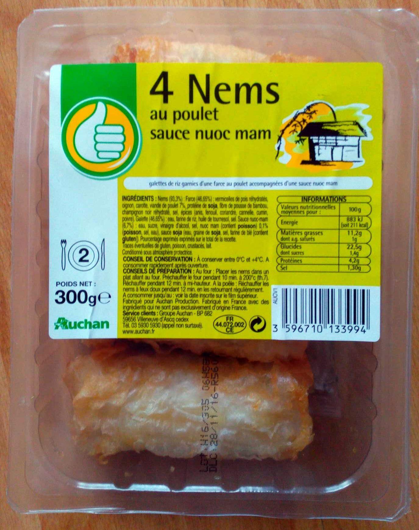 4 nems au poulet sauce nuoc mam - Product - fr