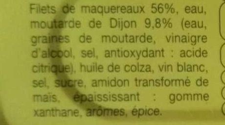 Filets de maquereaux (à la moutarde) - Ingrédients - fr