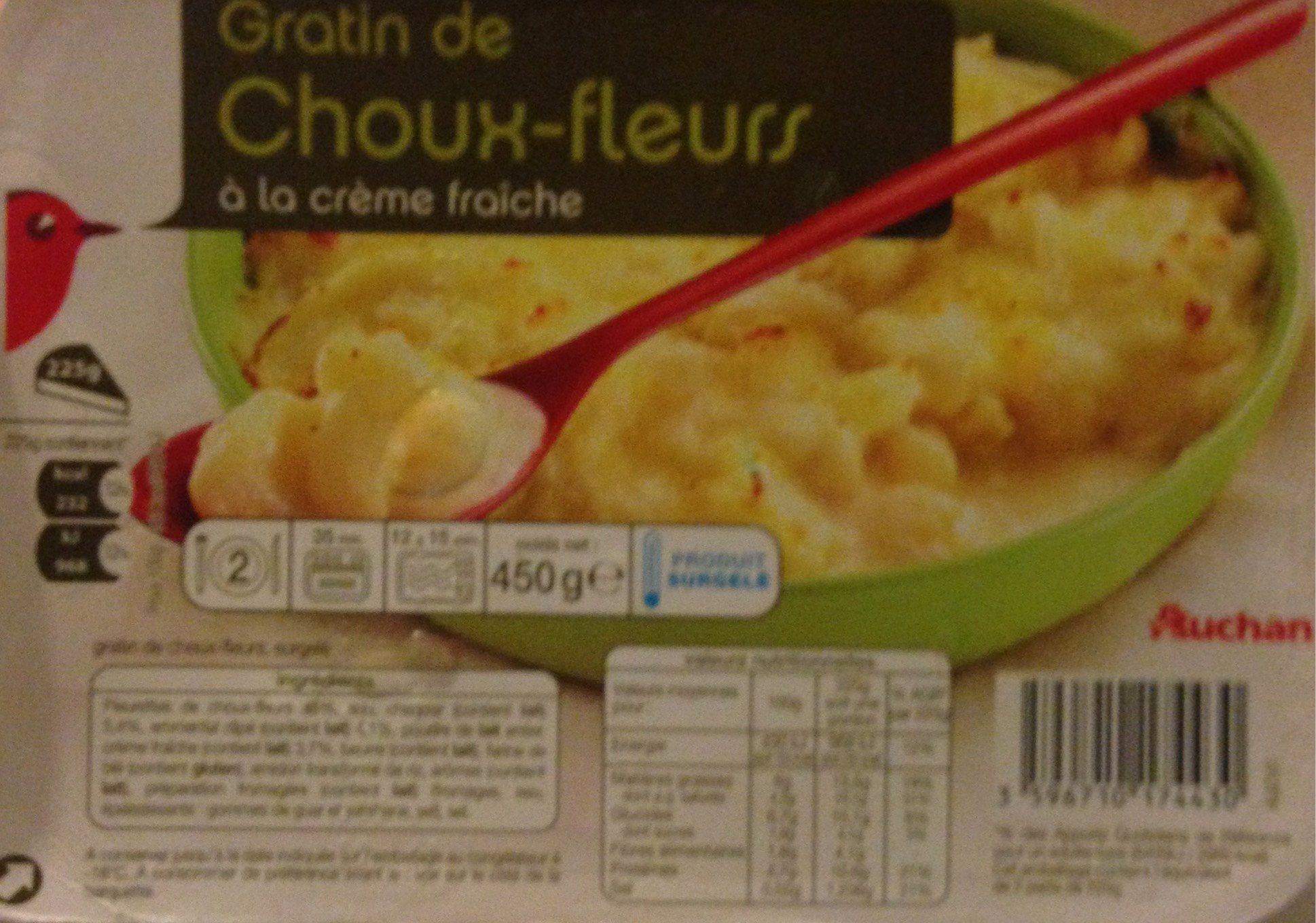 Gratin De Choux Fleur A La Creme Fraiche Auchan
