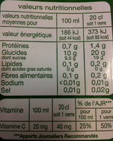 Pur jus d'Orange - Informations nutritionnelles - fr