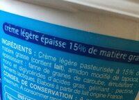 Creme fraiche légère - Ingrediënten - fr