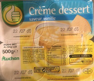 Creme dessert saveur vanille - Product - fr
