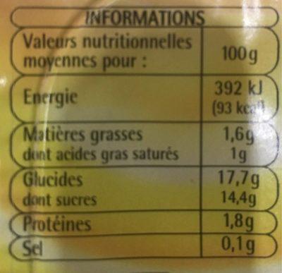 Creme dessert saveur vanille - Voedingswaarden - fr