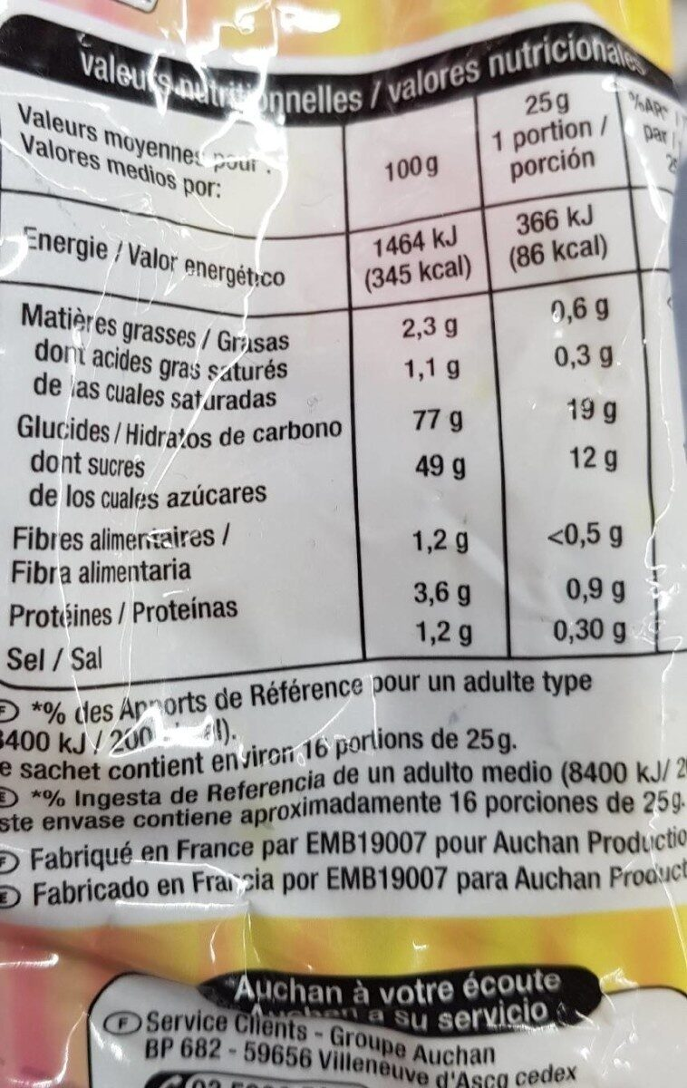 Réglisse Mix - Nutrition facts - fr