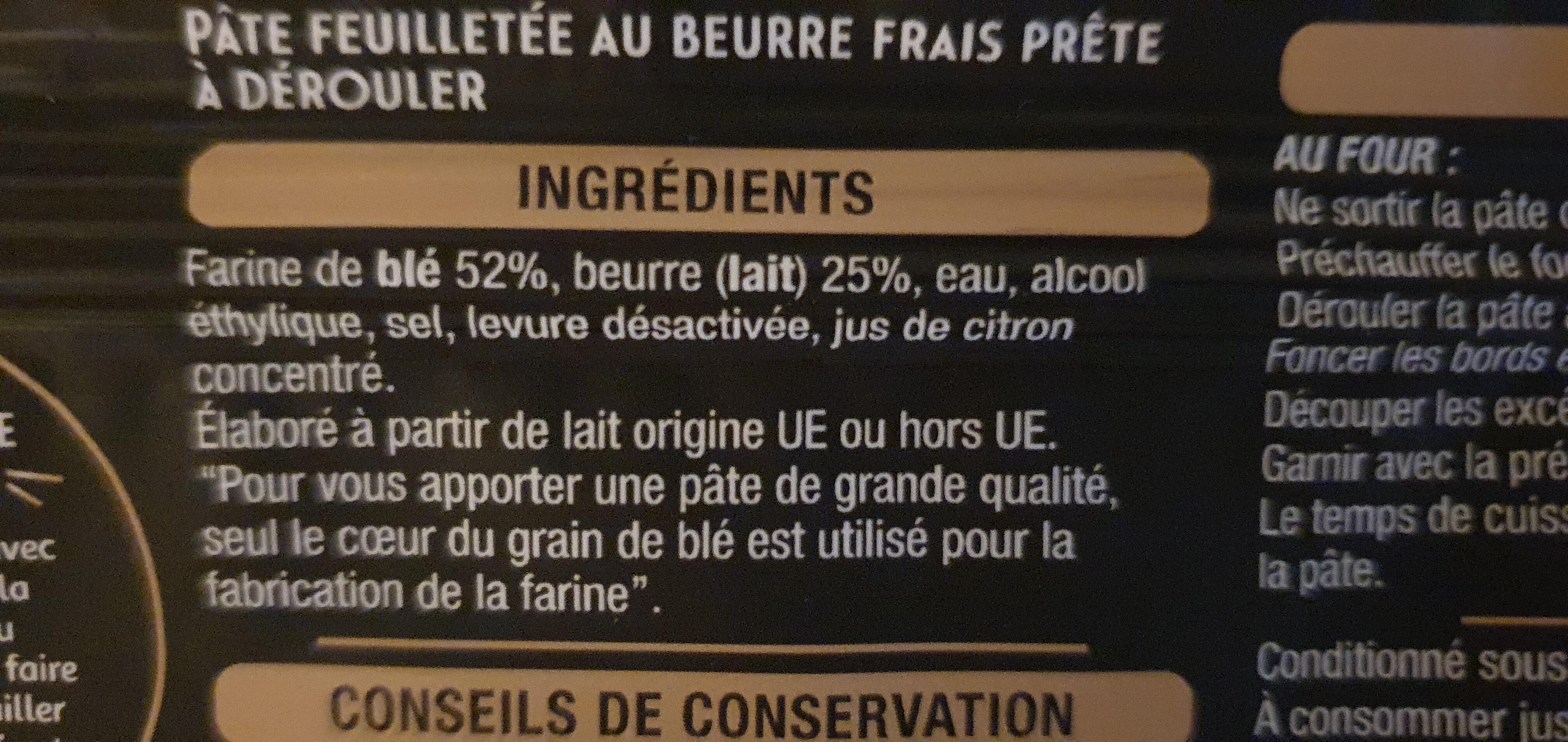 La Pâte feuilletée - Ingrédients - fr