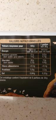 La Pâte feuilletée - Informations nutritionnelles - fr