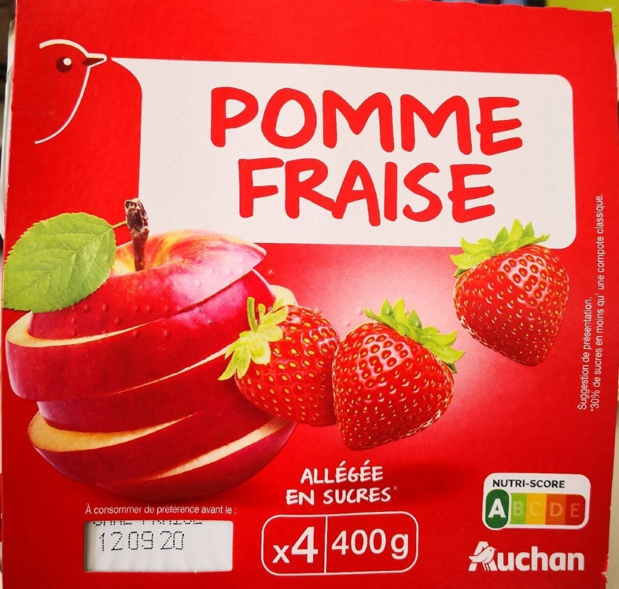 Compote - Pomme fraise x4 - Product - fr