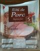 Rôti de Porc (Doré au four) 5 Tranches - Product