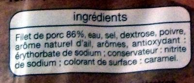 Rôti de Porc (Doré au four) 5 Tranches - Ingredients