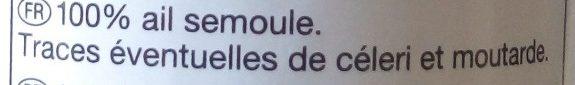 Ail semoule - Ingredienti - fr