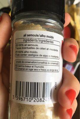 Ail semoule - Valori nutrizionali - fr
